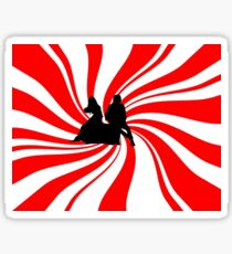 Swirl Design - The White Stripes Sticker