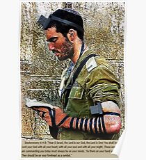 ✌ TEFILLIN SOLDIER @ THE WESTERN WALL(WAILING WALL)✌  Poster