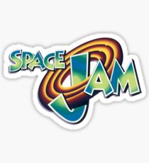 Space Jam Logo Design Sticker
