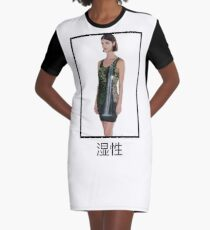 wet / waterfall Graphic T-Shirt Dress