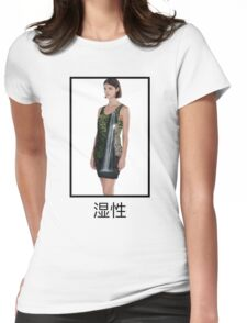 wet / waterfall Womens Fitted T-Shirt