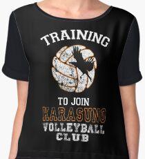 Training to join Karasuno Volleyball Club Chiffon Top