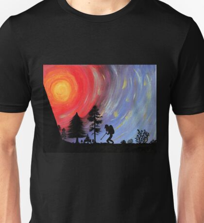 Hiker dude Unisex T-Shirt