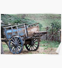 old wooden cart Poster