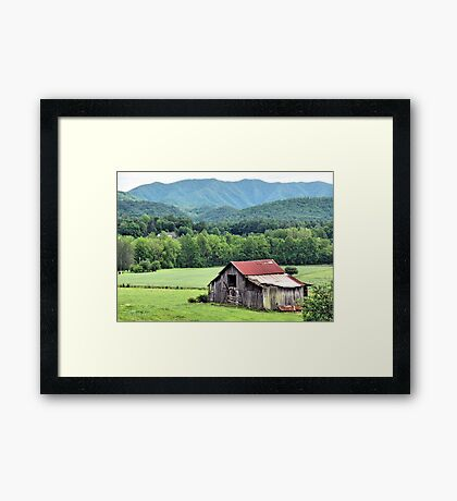 """""""Down in the Valley """"... prints and products Framed Print"""