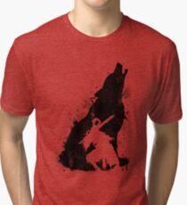 Camiseta de tejido mixto Abyss Warrior VERSIÓN NEGRO