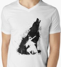 Abyss Warrior VERSION BLACK Men's V-Neck T-Shirt