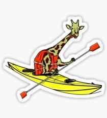 Giraffe Sea Kayaking Sticker