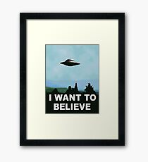 I want to believe, x-files poster Framed Print