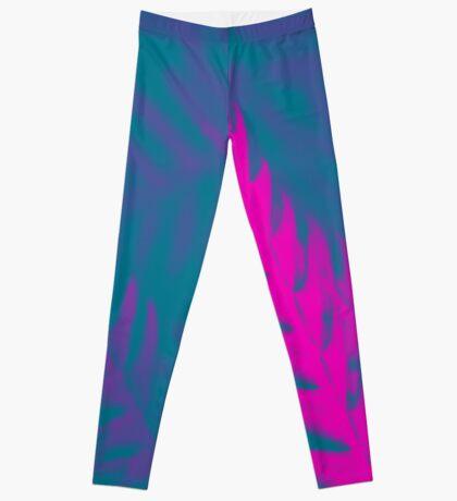 Nature Pattern # 2 - Fern (Blue Pink) Leggings