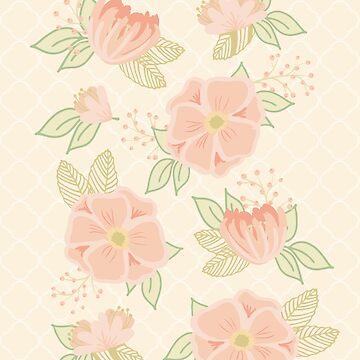 Cream and Sugar Florals by gwendegroff
