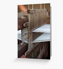 weaving loom Greeting Card