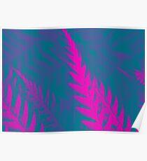Nature Pattern # 2 - Fern (Blue Pink) Poster