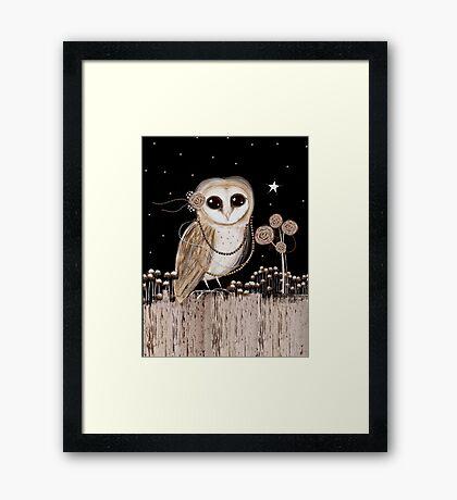 Little Barn Owl Framed Print