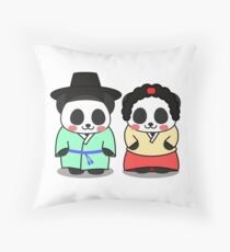 Panda Korean Lover Throw Pillow