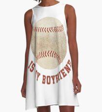 Baseball is My Boyfriend A-Line Dress