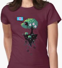 Greedy Grackle - Money Collector Womens Fitted T-Shirt