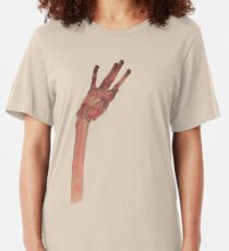 Schiele Hand (Transparent) Slim Fit T-Shirt