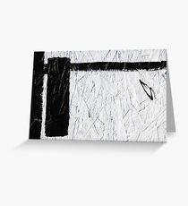 Black & White Tape Greeting Card