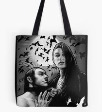 Vampire Queen and her Blood Bag - Black & White Tote Bag
