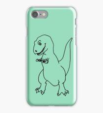 T-rex Playing an Ukulele iPhone Case/Skin