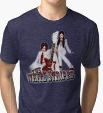 The White Stripes - Red & White Tri-blend T-Shirt