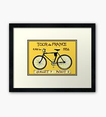 TOUR DE FRANCE ; Vintage Bicycle Race Print Framed Print