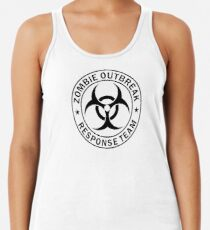 Camiseta con espalda nadadora EQUIPO DE RESPUESTA DEL ZOMBIE