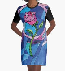 The rose Graphic T-Shirt Dress