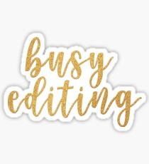 Busy Editing - Youtube Sticker