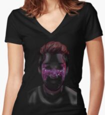 Space Freckles - Cancer Markiplier Women's Fitted V-Neck T-Shirt
