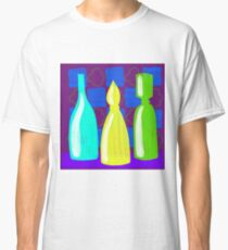 Moroccan Bottles on wine red walls Classic T-Shirt