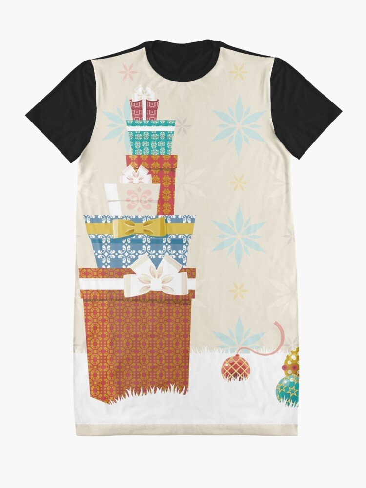 Alternate view of Gifts. Christmas time. Graphic T-Shirt Dress
