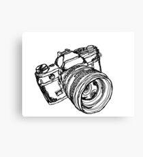 Vintage 35mm SLR Camera Design Canvas Print