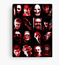 Horror Movie Icons Vector Art Canvas Print