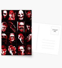 Horror Movie Icons Vector Art Postcards