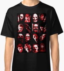 Horror Movie Icons Vector Art Classic T-Shirt