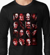 Horror Movie Icons Vector Art Long Sleeve T-Shirt