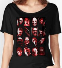 Horror Movie Icons Vector Art Women's Relaxed Fit T-Shirt