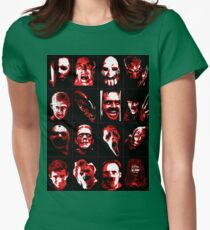 Horror Movie Icons Vector Art Womens Fitted T-Shirt