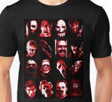 Horror Movie Icons Vector Art Unisex T-Shirt