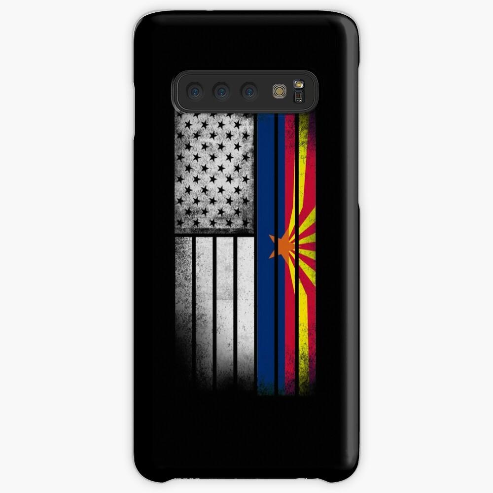 USA Vintage Arizona State Flag Hülle & Klebefolie für Samsung Galaxy