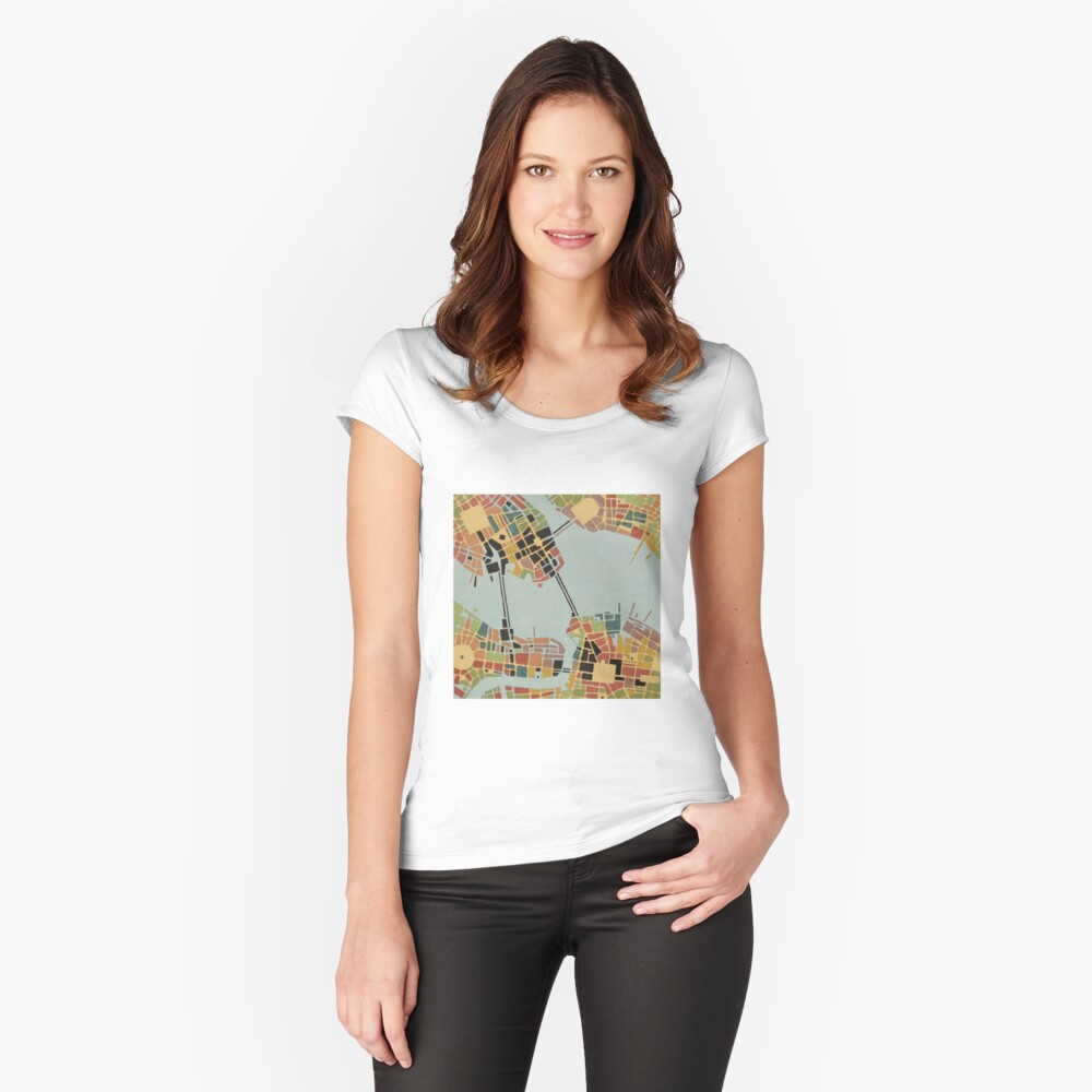 cipher n. 8  (original sold) Women's Fitted Scoop T-Shirt Front