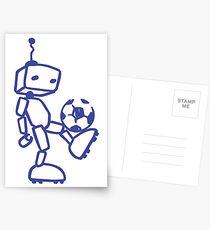 Robot soccer Postcards