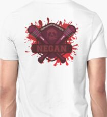 """Walking Dead Negan Blood Splatter  """"I'm gonna beat the Holy H*** Outa One Of You"""" Unisex T-Shirt"""