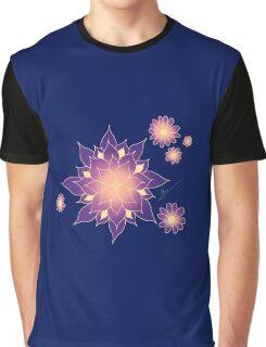 Midnight Summer Flower Graphic T-Shirt