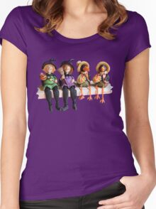 Tell Us A Happy Halloween Story! Women's Fitted Scoop T-Shirt