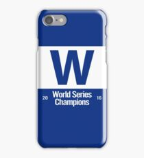 Exact Cubs Blue - Chicago Cubs Majestic W Flag (World Series Edition) iPhone Case/Skin