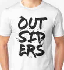 Outsiders - Black Text Unisex T-Shirt
