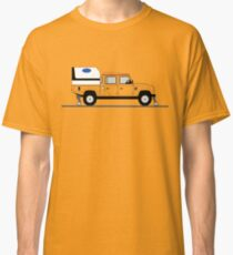 A Graphical Interpretation of the Defender 130 Double Cab High Capacity Pick Up Road Rail Vehicle Classic T-Shirt